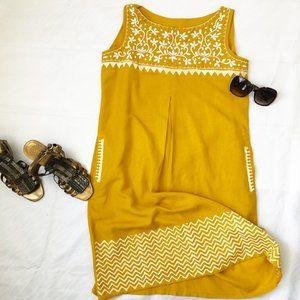 global desi embroidered shift dress